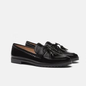 Zara Micro Studded Loafers